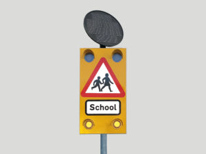 Solar-Powered Pulsa 4x4 School Crossing Sign Product Image