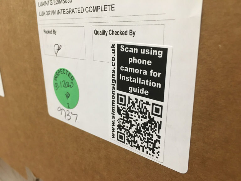 QR Code On Simmonsigns LUA Box