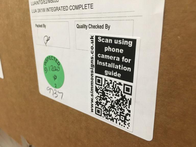 QR Code On Simmonsigns LUA Box