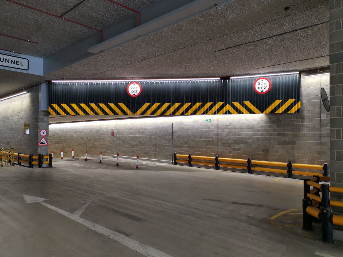 Guardian Flex height warning system installed at Royal Mail in London