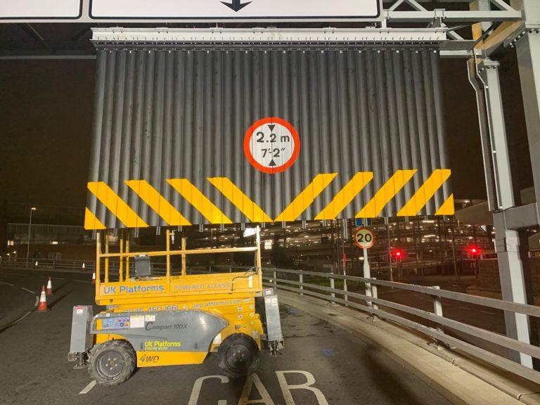 Guardian Flex Vehicle Height Warning System Heathrow Airport