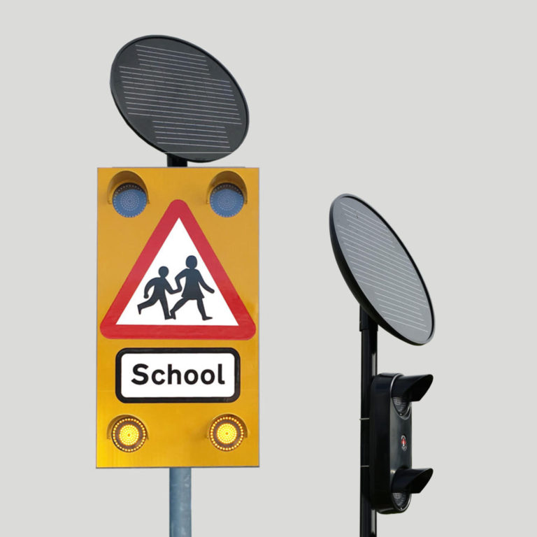 Solar-Powered Warning Signals To Keep School Areas Safe